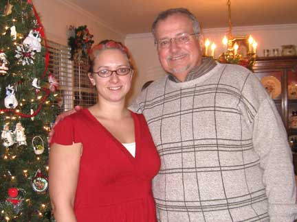 Gaining Relationship Pounds — Tracy and Dad At Xmas 2008