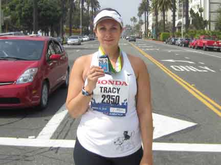 Challenging Way To Lose Weight — Tracy Post 2012 Marathon