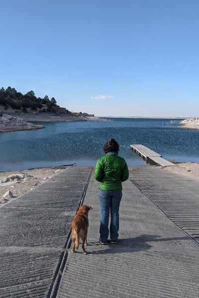 A walk at the Lake McConaughy State Recreation Area with my dog
